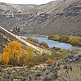 Looking down Yakima River canyon, near Umtanum