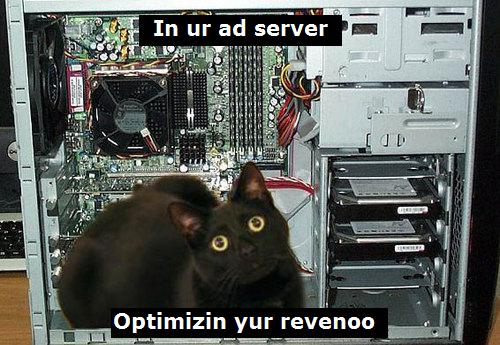 Translation: In your ad server, optimizing your revenue!