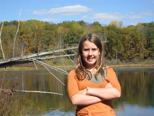 Hannah and the small lake